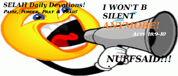 I WON'T BE SILENT ANYMORE