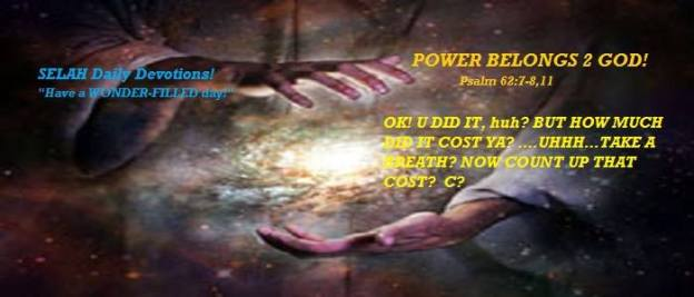 POWER BELONGS 2 GOD